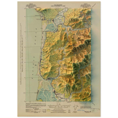 Nehalem, Oregon Map