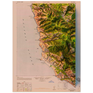 Point Sur, California Map