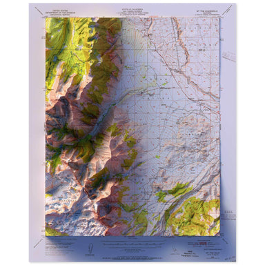 Mt. Tom, California Map
