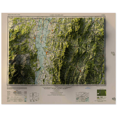 Lake Champlain, Vermont Map