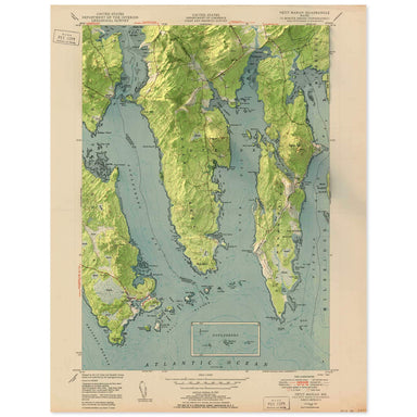 Petit Manan, Maine Map
