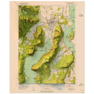 Ticonderoga, New York Map