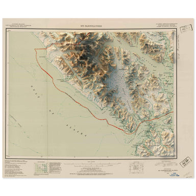 Mt. Fairweather, Alaska Map