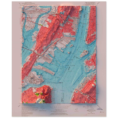 New York Harbor, New York Map