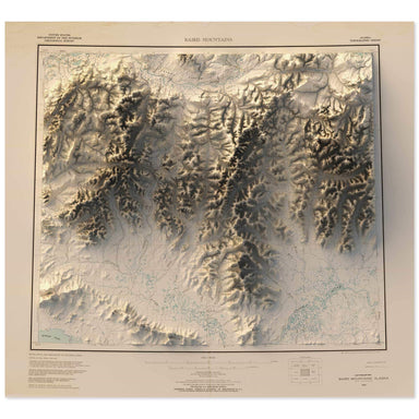 Baird Mountains, Alaska Map
