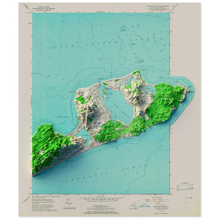 Montauk, New York Map
