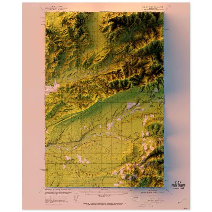 Salmon River, Washington Map