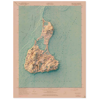Block Island, Rhode Island Map