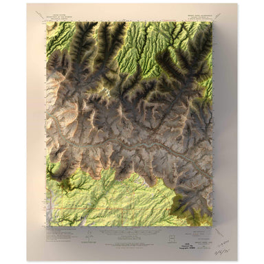 Bright Angel, Grand Canyon  Map