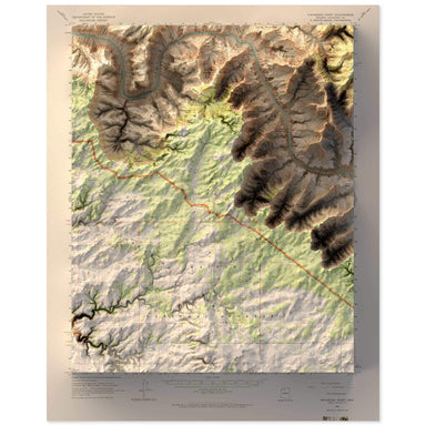 Havasupai Point, Grand Canyon Map