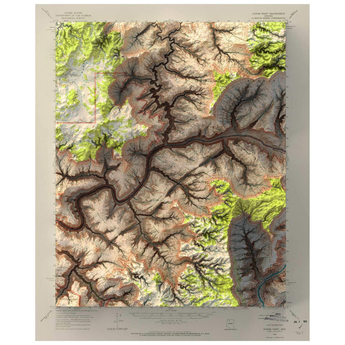 Kanab Point, Grand Canyon Map