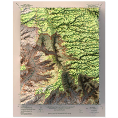 Powell Plateau, Grand Canyon Map