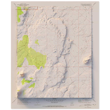 Roden Crater, Arizona Map