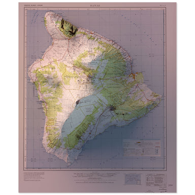 Island of Hawaii, Hawaii Map