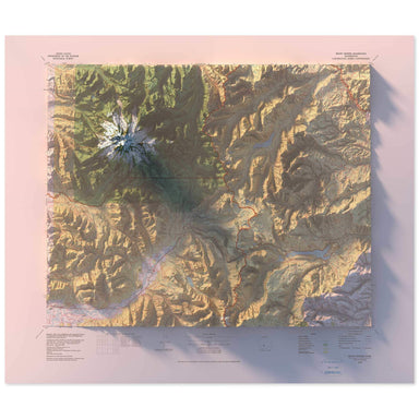 Mt. Rainier, Washington Map