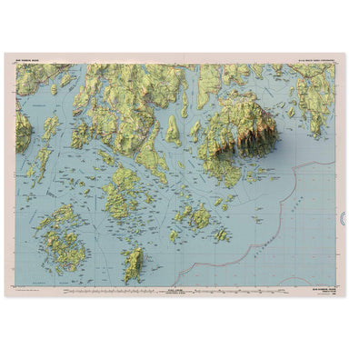 Bar Harbor, Maine Map