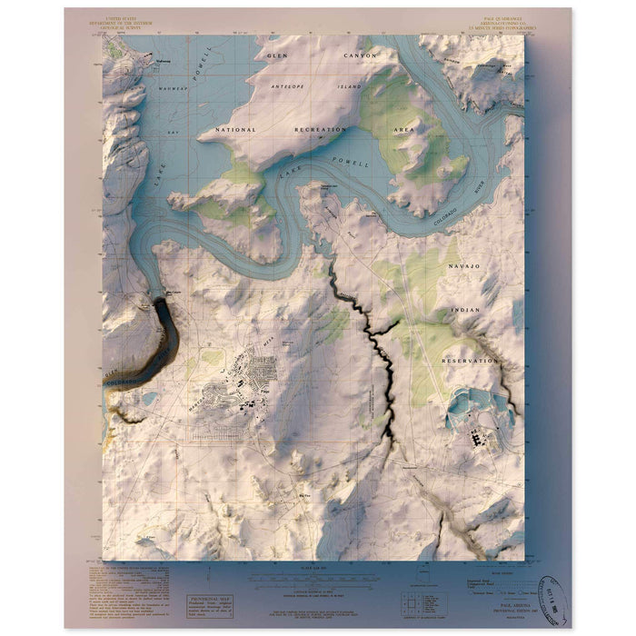 Glen Canyon, Arizona Map