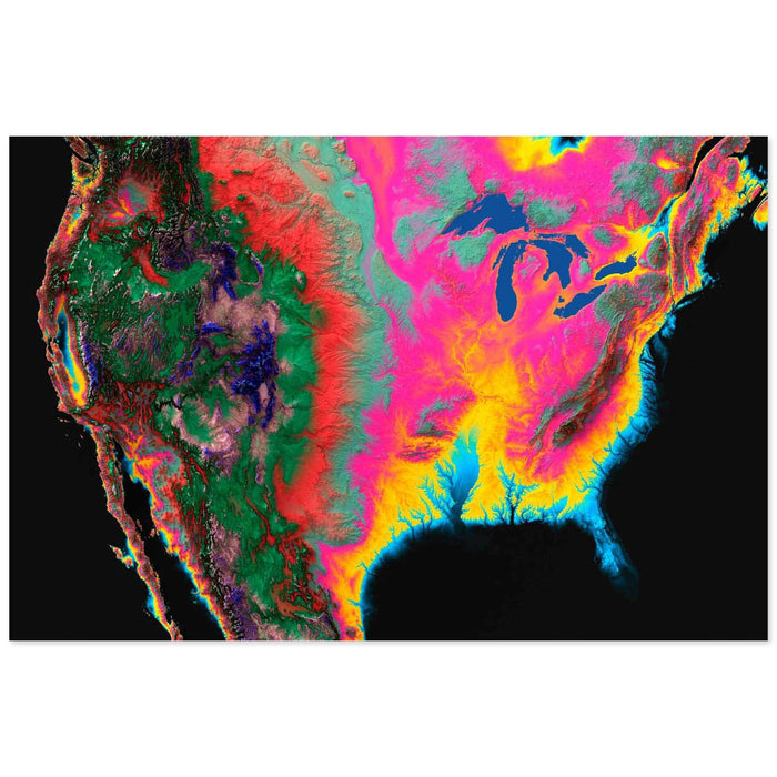 Hypercolor North America Map