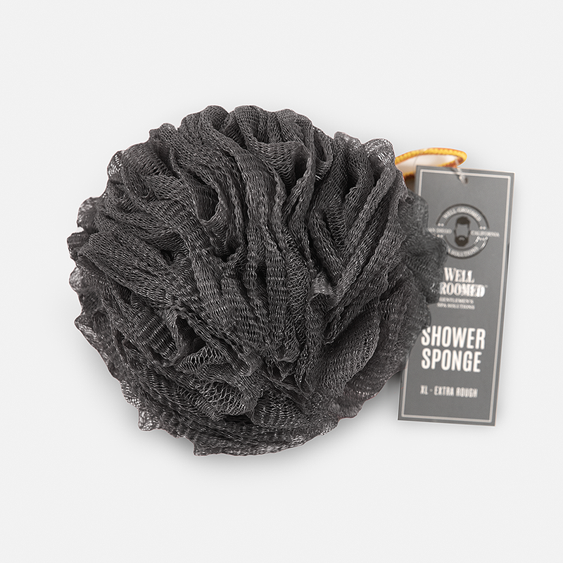 Well Groomed Jumbo Extra Rough Shower Sponge - Charcoal