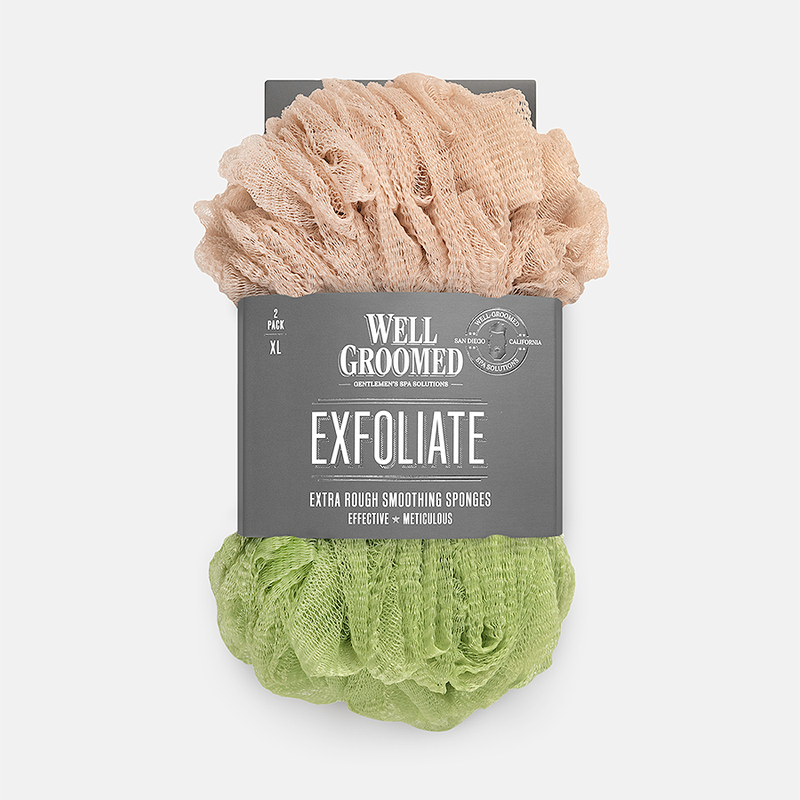 Well Groomed Extra Rough Smoothing Sponges - Two Pack