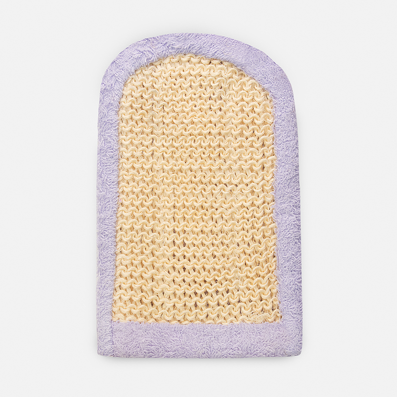 Sisal Terry Polishing Mitt - Lavender
