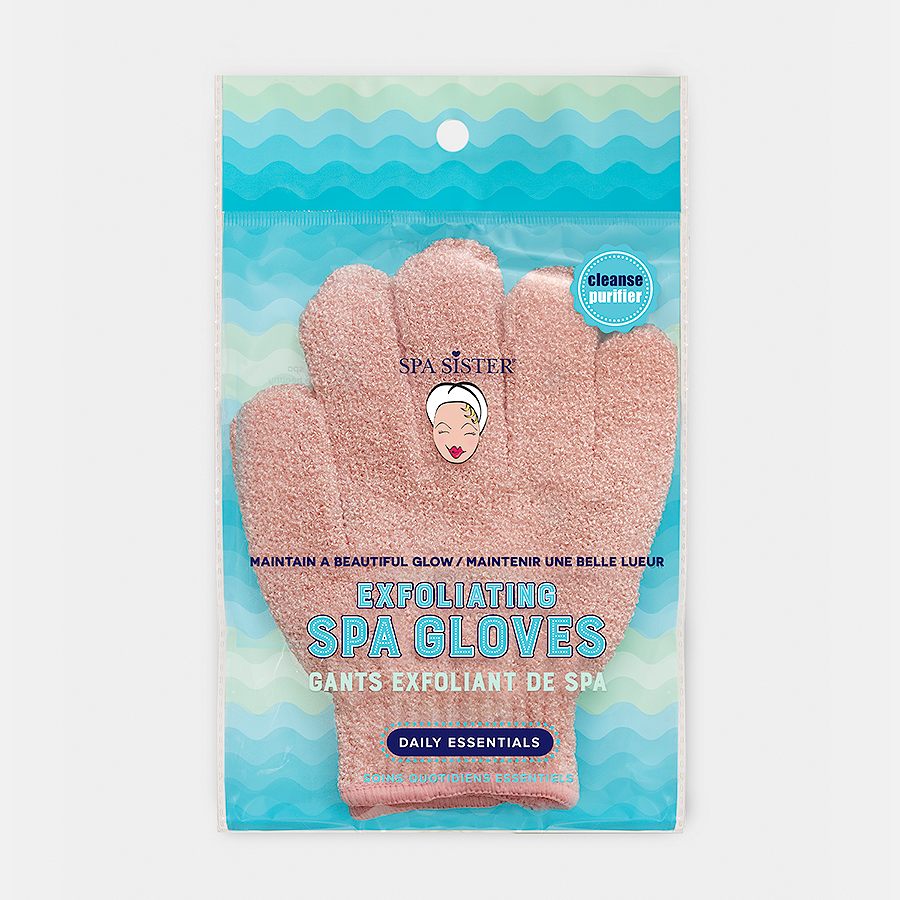 Textured Spa Bathing Gloves