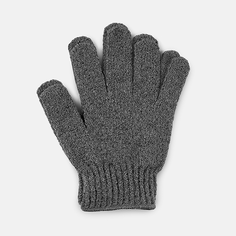 Well Groomed XL Extra Rough Shower Gloves - Charcoal