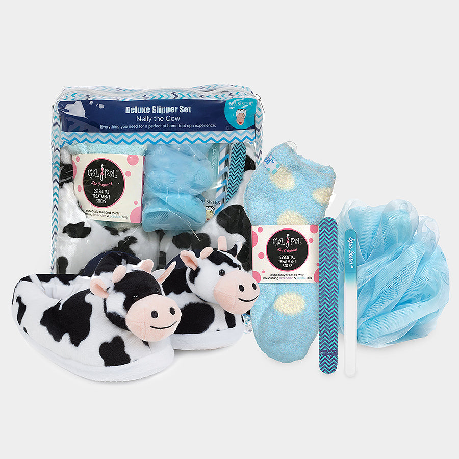 Deluxe Slipper Set - Nelly The Cow