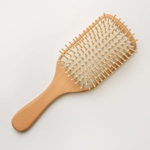 Bamboo Paddle Wood Bristle Hair Brush - BathAccessoriesWholesale
