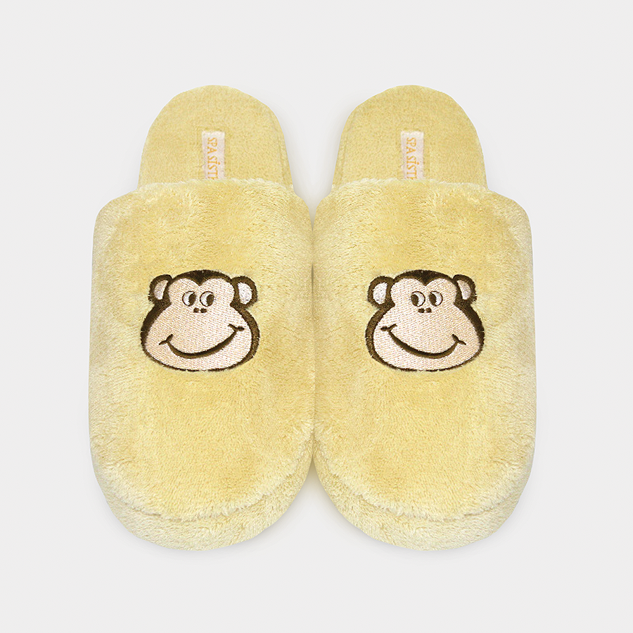 Applique Slippers - Monkey