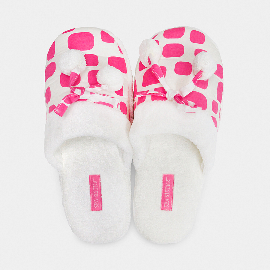 Cheers Spa Slippers - Pink Ice