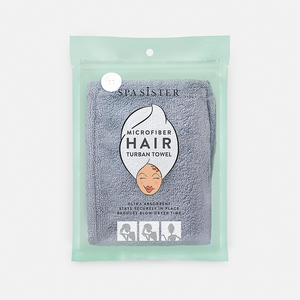 Microfiber Hair Turban Towel - Grey