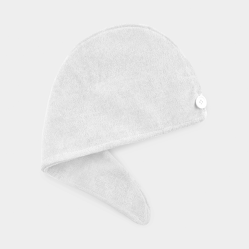 Microfiber Hair Turban Towel - White