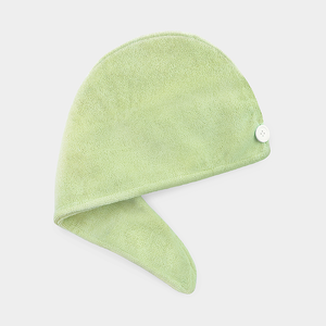 Microfiber Hair Turban Towel - Green