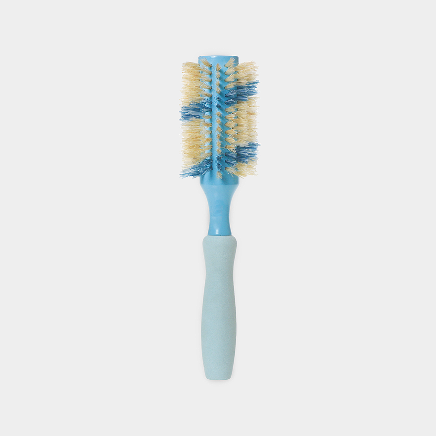 "2.5"" Boar Round Hair Brush, Ribbon - Blue"