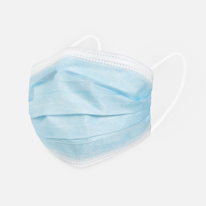 Blue Face Masks 50pk <br> 3ply Disposable, Non-Medical