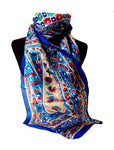 Persian Blue Silk Scarf