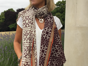 The Chocolate Gaucho - 100% Fine Wool Scarf