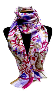 Paisley Coral - Silk Scarf