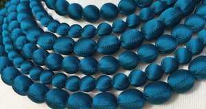 Silk Necklace - Teal