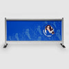 Mahalia Coffee cafe barrier in blue 2mt long