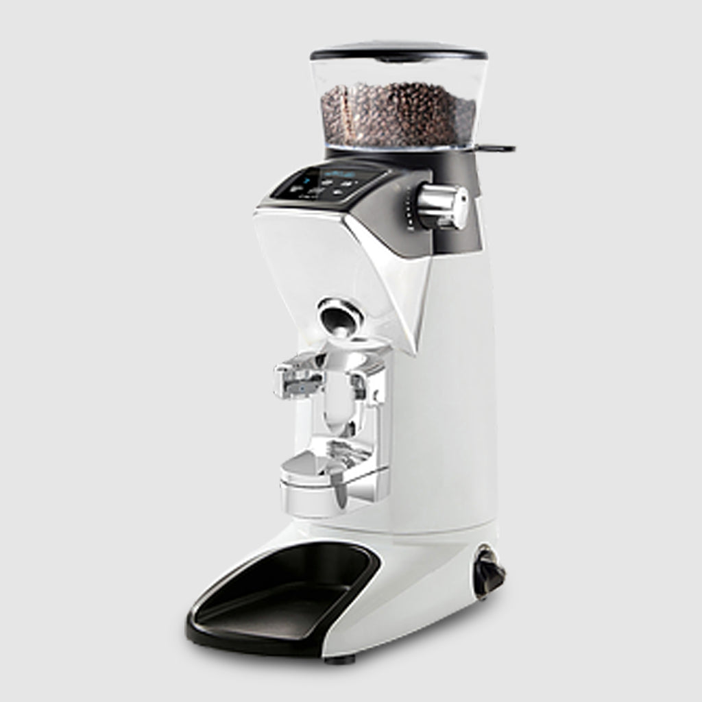 Compak PKF Weight to Grind Grinder in gloss white