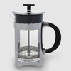 Euroline Coffee Plunger 6 Cup in silver and glass