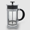 Euroline Coffee Plunger 8 Cup in silver and glass