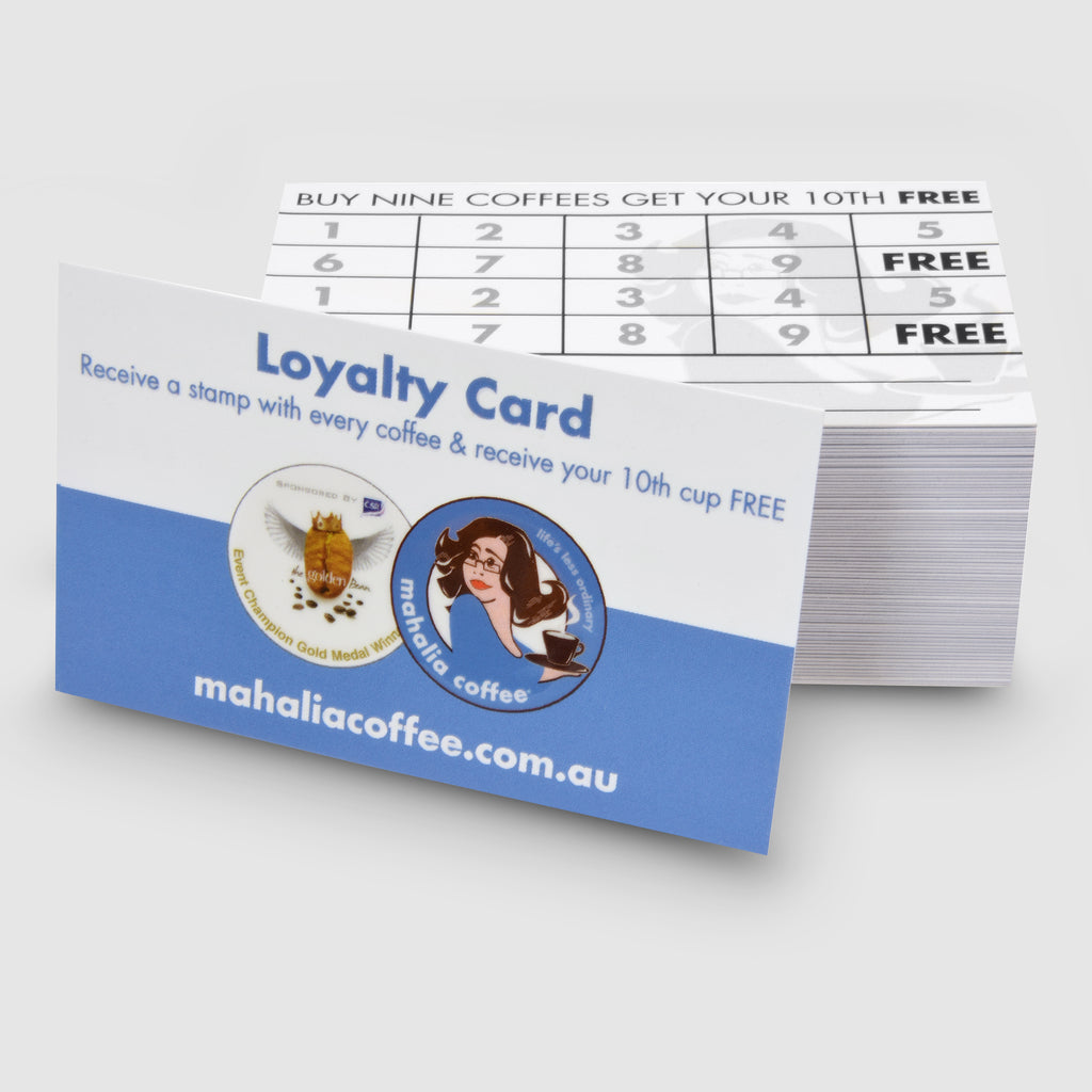 Cafe Loyalty Cards by Mahalia Coffee