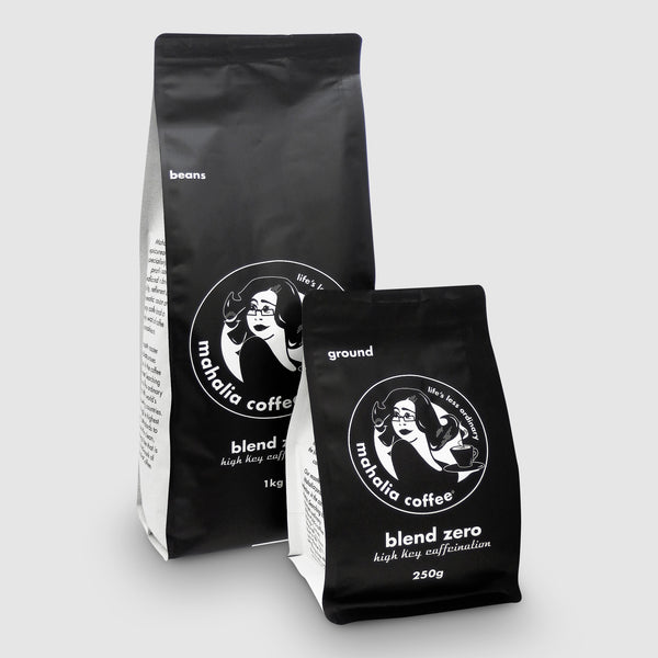Mahalia Coffee Blend Zero High Key Caffeination in 250g & 1kg bags