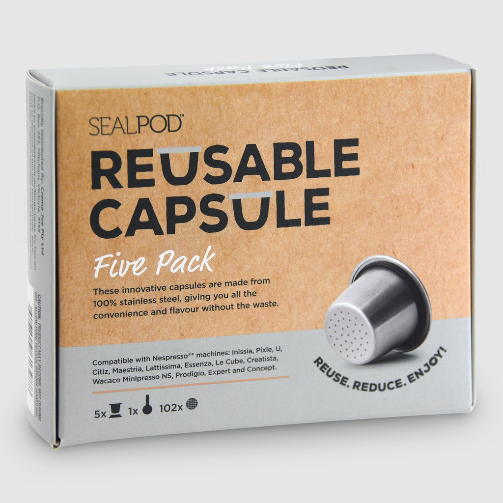 Reusable Coffee Capsules 5 pack - Nespresso® compatible