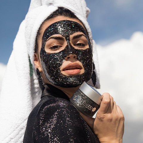 RE-INVENTED Black Glitter Mask