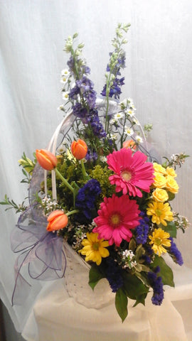 Brighten your Easter with this beautiful basket of spring flowers