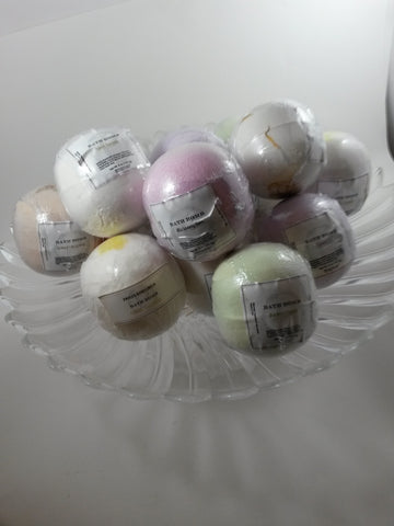 Paris and petunia  bath bombs